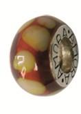Piccolo Anhänger, Charm, Bead, Kugel APF 044 Emaillekugel mit Silberkern von Piccolo Schmuck
