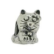Jolie Katze Silberkugel, Element, Figur, Charm, Anhänger Bead ABK-017 von Jolie Collection Schmuck
