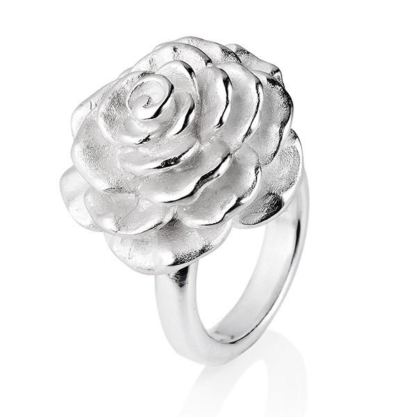 Drachenfels Ring, Rosenregen-Kollektion, Ring Groß, Silber D RRE 14