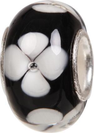 Murano Bead, Murano Glaskugel für Bettelarmband schwarz, GPS 03 von Charlot Borgen Design