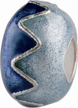 Silberkugel mit Emaille verziert, Charm, Charlot Borgen Design