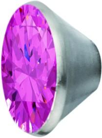 Melano Edelstahl Fassung Aufsatz pink für Ring von MelanO Schmuck zum Wechseln MO1SR 4066