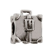 Jolie Tasche Koffer Bead, Charm, Silberkugel, Element in Silber ABK 053 von Jolie Collection