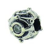 Piccolo Silber Charms mit Stein, Anhänger, Kugel, Bead Silber APX-007 von Piccolo das Original