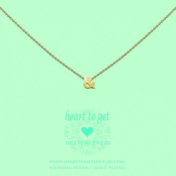 """Heart to get Anhänger Symbol """"&"""" Silber gelbgold beschichtet S171AND13G"""