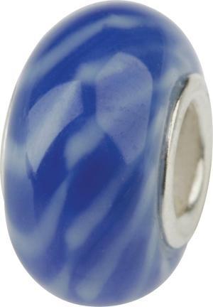 Murano Bead, Murano Glaskugel für Bettelarmband blau, GPS 13 von Charlot Borgen Design
