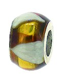 Piccolo Schmuck Anhänger, Charm, Bead, APF 064 Emaillekugel mit Silberkern von Piccolo das Original