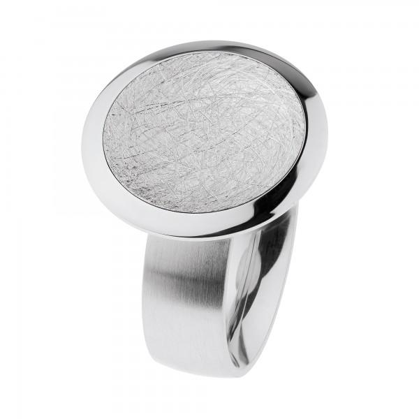 Ernstes Design Ring R700,Edelstahl matt / poliert / gekratzt R700