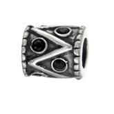 Silber Charms mit Swarovski Steinen Anhänger, Kugel, Bead Silber APS 014 von Piccolo das Original