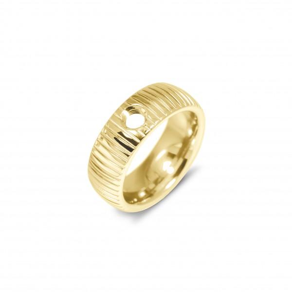 Melano Vivid Ring Striped Edelstahl goldfarben beschichtet VR08