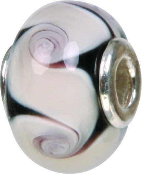 Mundgeblasene Muranoglaskugel mit Silberkern, Charm, Bead, GPS 38 von Piccolo das Original
