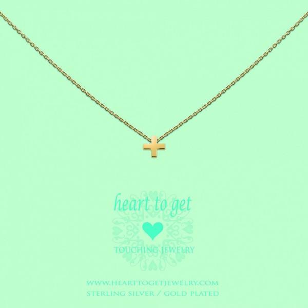 "Heart to get Anhänger Symbol ""+"" Silber goldfarben S172PLU13G"