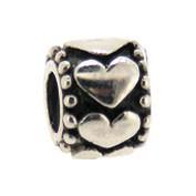 Jolie Bead mit Herzen, Silberkugel, Element, Figur, Anhänger, Charm, ABK-031 von Jolie Collection