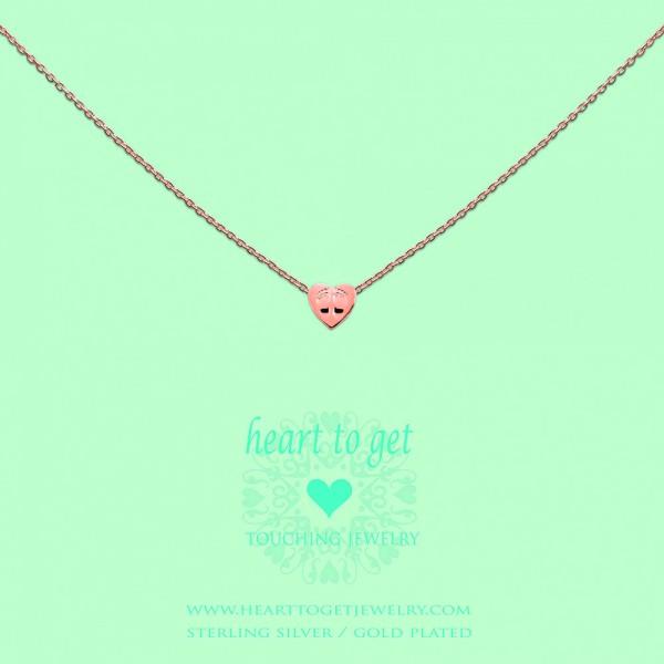 Heart to get Anhänger kleines Herz mit Fußspuren Silber rosé S176BAB13R