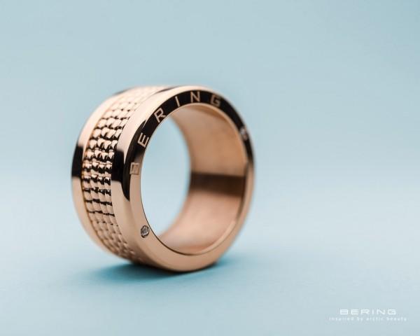 Bering Ring rosé 520-10-X4 Kombinationsring Außenring Breit mit 4 Innenringen Edelstahl