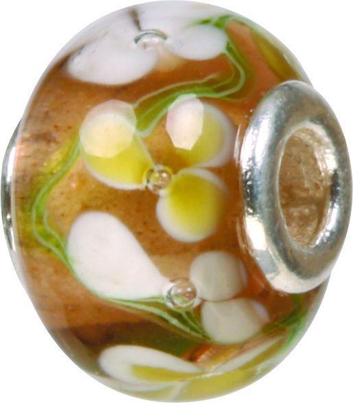 Piccolo Murano Bead, Charm, Muranoglaskugel mit Silberkern, GPS 04 von Piccolo das Original