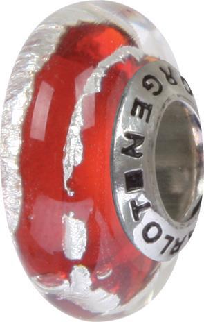 Murano Bead, Murano Glaskugel für Bettelarmband rot, GPS 86 von Charlot Borgen Design