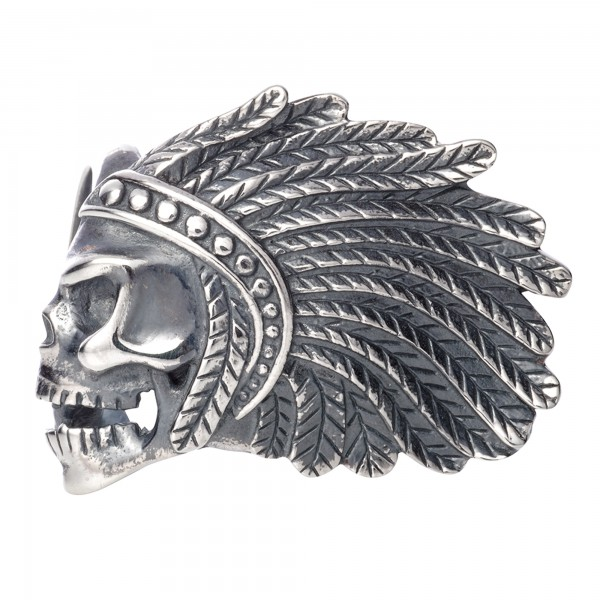 Rebeligion Indianer Totenkopf Anhänger Add On fürs Armband Black Rock Large / Men 15-01207-71-001