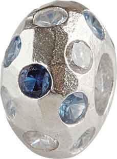 Silberkugel glänzend mit Zirkonia, Charm, Charlot Borgen Design