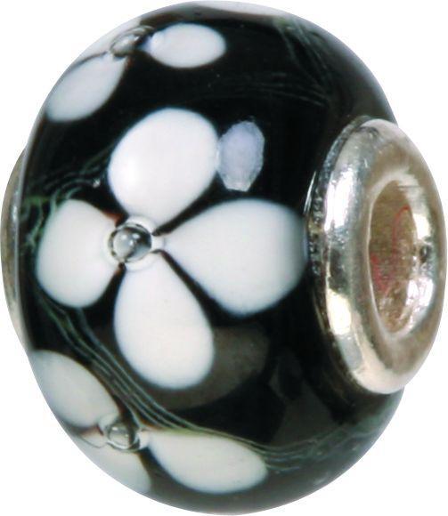 Piccolo Murano Bead, Charm, Muranoglaskugel mit Silberkern GPS 04 von Piccolo das Original