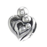 Piccolo Schmuck Herz Anhänger, Charm, Bead in Silber APG 482 Figuren von Piccolo das Original