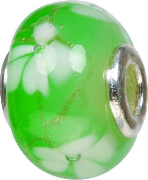 Piccolo Murano Bead, Charm, Muranoglaskugel, GPS 58 grün von Piccolo das Original