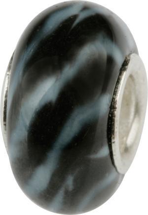 Murano Bead, Murano Glaskugel für Bettelarmband schwarz, GPS 13 von Charlot Borgen Design