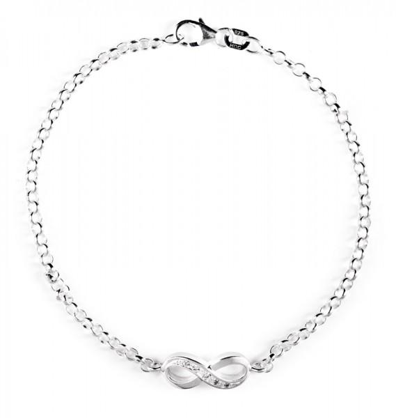 heartbreaker Armband mit Anhänger Infinity / Unendlichkeit LD IF 81 Silber mit Zirkonia