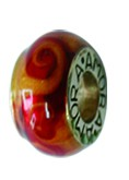 Piccolo Anhänger, Charm, Bead, Kugel APF 042 Emaillekugel mit Silberkern von Piccolo Schmuck