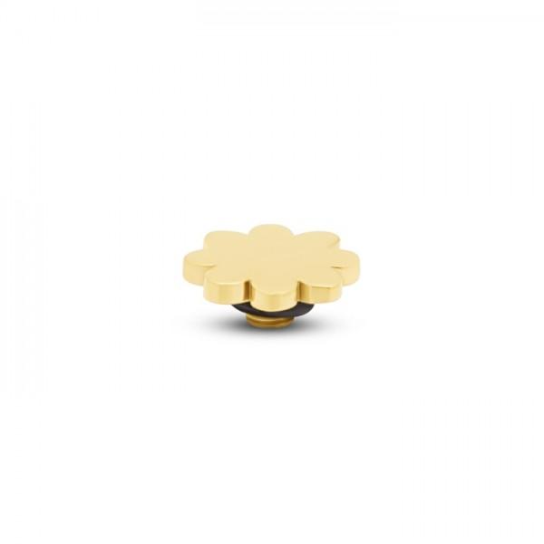 Melano Twisted Ringaufsatz, Fassung, TM83 Blume, 7 mm, Edelstahl goldfarben beschichtet