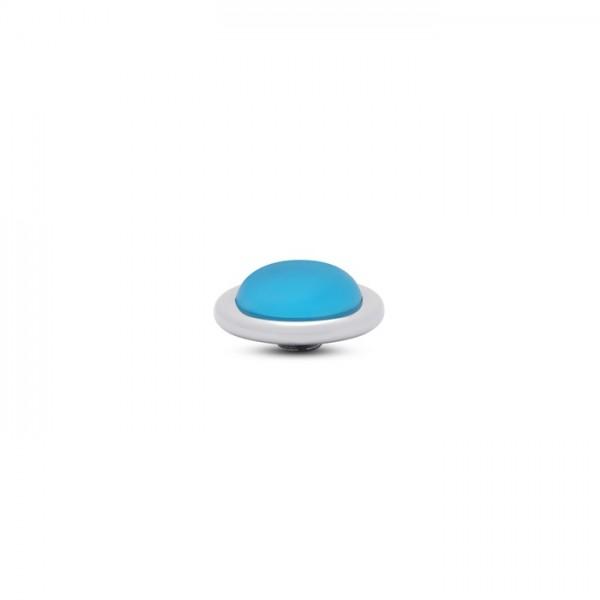 Melano Vivid, VM32 Aufsatz / Fassung Frosted Round, 14 mm, Edelstahl / Stein in Farbe blue sky