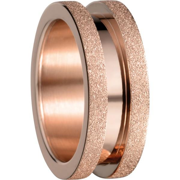 Bering 527-39-X3 Kombinationsring Basisring / Schmal Edelstahl rosé Sparkling Effekt