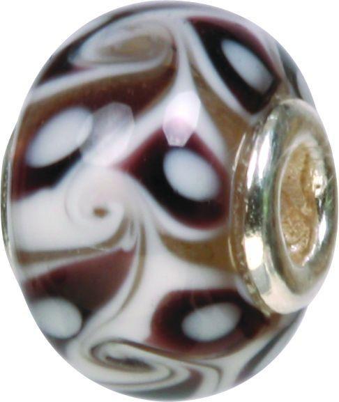 Piccolo Murano Bead, Charm, Muranoglaskugel, GPS 63 black von Piccolo das Original