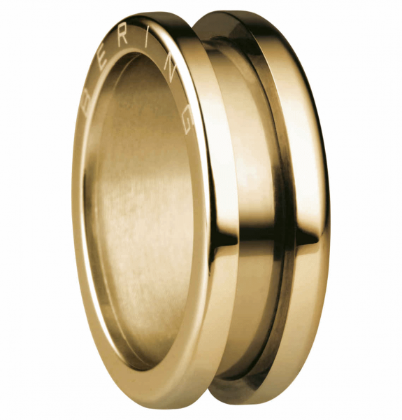 Bering 520-20-X3 Kombinationsring Basisring / Außenring Schmal Edelstahl goldfarben