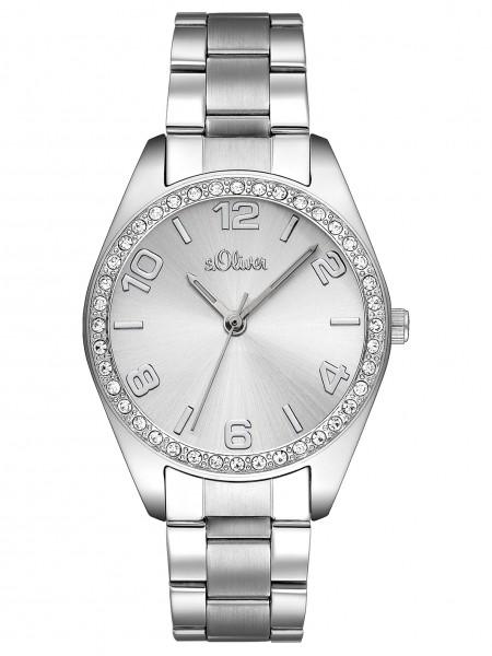 s.Oliver Uhr Damenuhr SO 2276 MQ mit Steinen rund Edelstahl