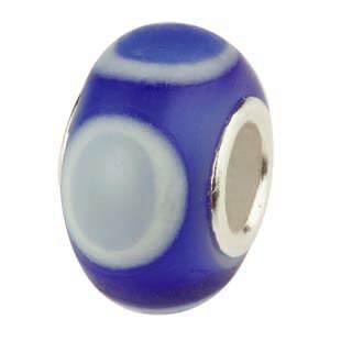 Muranoglaskugel matt mit Silberkern, Beads, Charms, Charlot Borgen Design