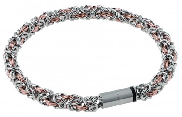 Ernstes Design EDvita petit A526 Königsarmband Edelstahl bicolor mit Magnetverschluss Ø ca. 5 mm