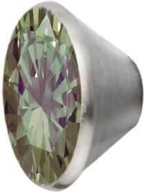 Melano Edelstahl Fassung Aufsatz olive für Ring von MelanO Schmuck zum Wechseln MO1SR 4066