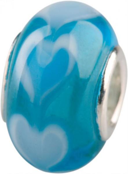 Murano Bead, Murano Glaskugel für Bettelarmband türkis, GPS 08 von Charlot Borgen Design