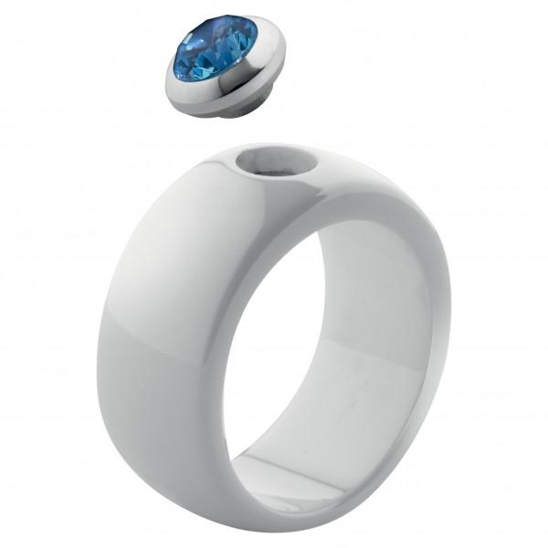 Melano Ring von MelanO Magnetic Schmuck in Keramik weiß beschichtet glänzend 10mm & 12mm Keramik Rin