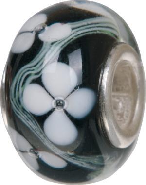 Murano Bead, Murano Glaskugel für Bettelarmband schwarz, GPS 04 von Charlot Borgen Design