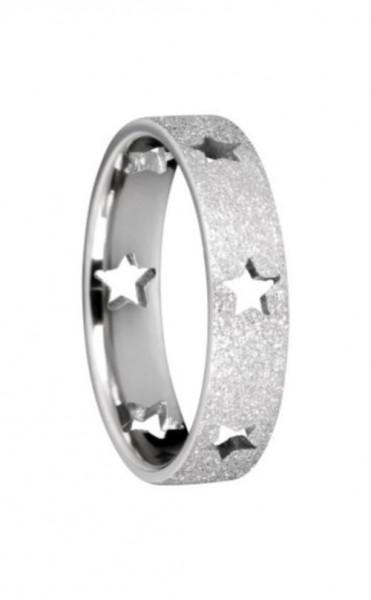 Bering 559-19-X2 Sternen Ring Innenring Breit Edelstahl Cut Out Sterne + sparkling effekt