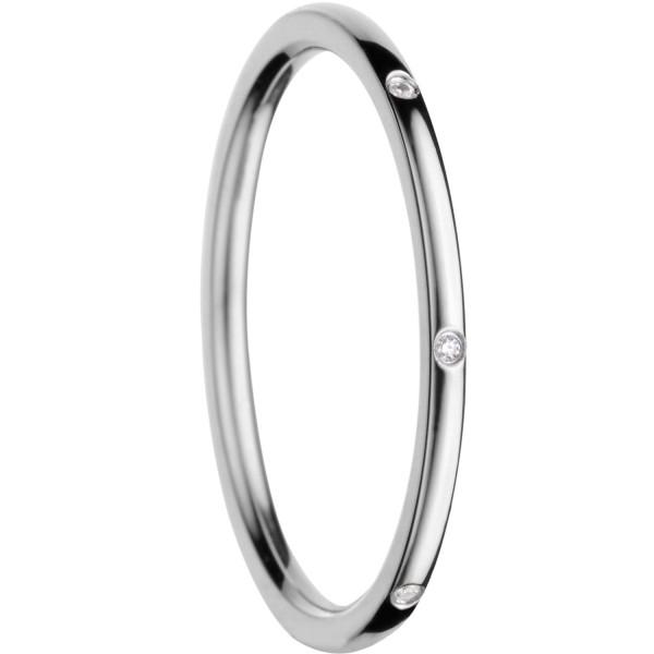 Bering 560-17-X0 Ring Innenring Ultra-Schmal Edelstahl mit Zirkonia