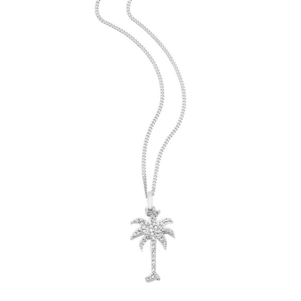 "So Cosi ""Under the palm tree"" Halskette, Collier, Anhänger inkl. Kette Silber SK-007-2"