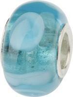Murano Bead, Murano Glaskugel für Bettelarmband türkis, GPS 23 von Charlot Borgen Design