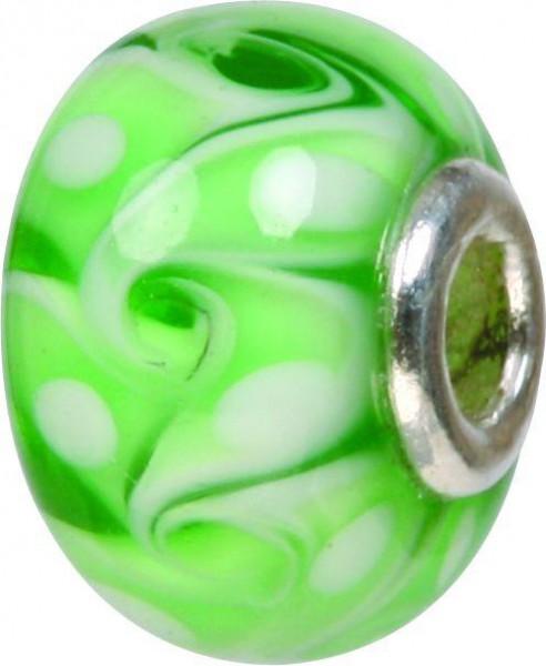 Piccolo Murano Bead, Charm, Muranoglaskugel, GPS 63 grün von Piccolo das Original