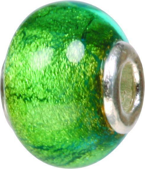 Mundgeblasene Muranoglaskugel mit Silberkern, Charm, Bead, GPS 42 von Piccolo das Original