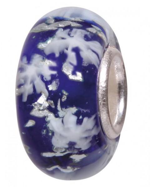Murano Bead, Murano Glaskugel für Bettelarmband blau, GPS 09 von Charlot Borgen Design