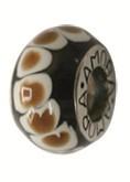 Piccolo Anhänger, Charm, Bead, Kugel APF 045 Emaillekugel mit Silberkern von Piccolo Schmuck