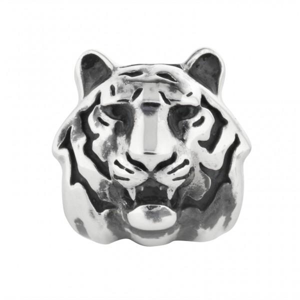 Rebeligion Anhänger Tiger Tigerkopf Add On Large / Men Black Rock 150109271001 v Rebeligion Schmuck